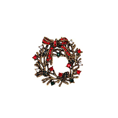 Brooch Pin Xmas Decorations Garland Charm Clothes Badge Jewellery Gift for Women Girls Personal Hygiene