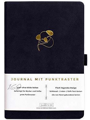 Bullet Journal - Dotted Notizbuch A5 - Gepunktet Tagebuch - Premium A5 Dickes Papier 160gsm Handgebunden - Notizbuch Diary - Perfektes Journal mit Punktraster für Künstler und Kreative -Koalabär