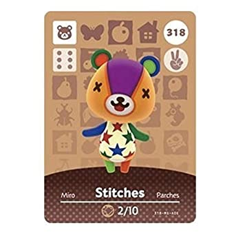 No.318 Stitches Animal Crossing Villager Cards Series 4 Third Party NFC Card Water Resistant
