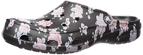 Crocs Women's Freesail Printed Clog, Floral/Black, 7 M US