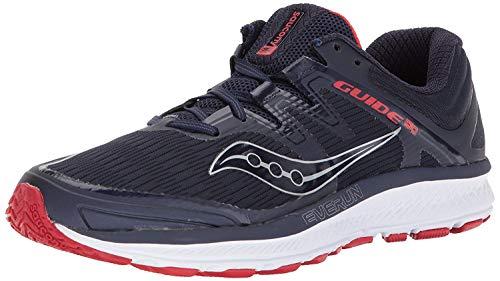 Saucony Men's Guide ISO Running Shoe, Navy/red, 10.5 Medium US