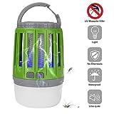 Bosunny Lampe Camping Anti-Moustique, [Garantie 24 Mois] 2 en 1 Rechargeable Lampe Anti-Moustique UV LED Etanche Zapper Lampe Interieur & Extérieure pour Lampe Anti-Insectes