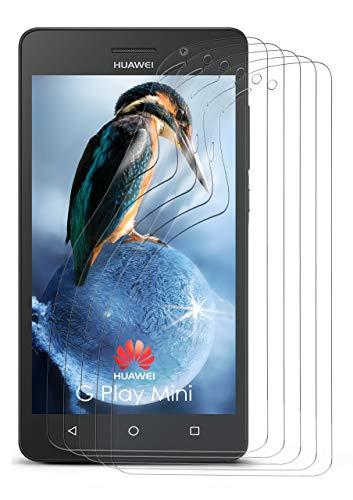 MoEx® Huawei G Play Mini Schutzfolie Klar Display Schutz [Crystal-Clear] Screen Protector Bildschirm Handy-Folie Dünn Displayschutz-Folie für Huawei G Play Mini Displayfolie, 5X Stück