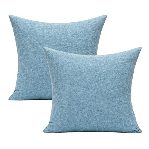 All Smiles Azul Claro Exterior Fundas de Cojín y Almohada Decorativas para...