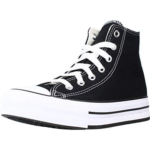 Converse Chuck Taylor All Star EVA Lift-HI, Zapatillas Deportivas, Black White Black,...