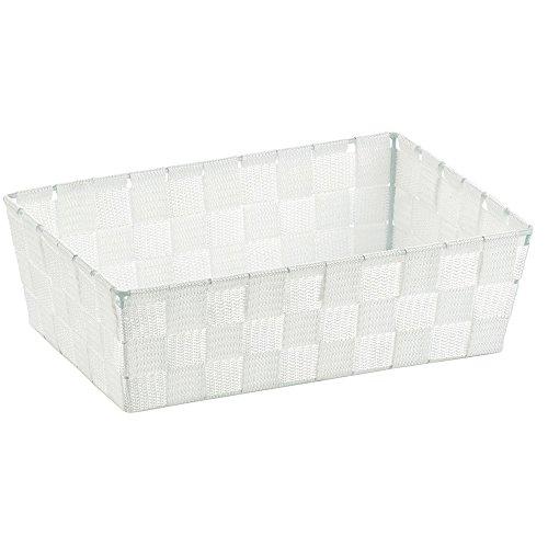 kela Korb Alvaro 29.5x20.5x8.5cm aus Kunststoff in weiß, Plastik, 29.5 x 20.5 x 8.5 cm