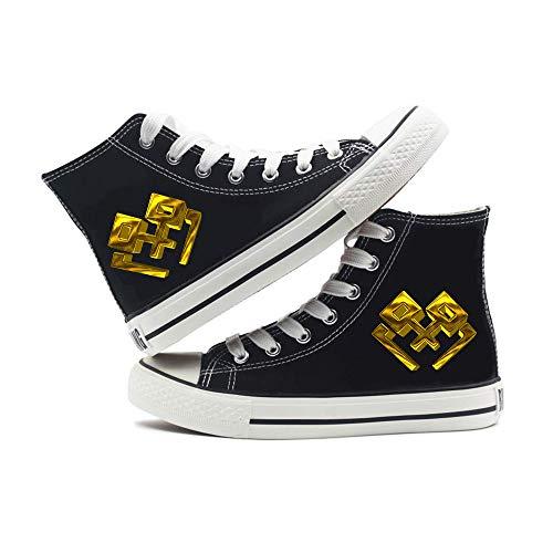 Fairy Tail Zapatos Lona de la Manera Deportes de Alta Superior Nuevo Daily otoño e Invierno Zapatos cómodos Ocasionales de Tendencia de los Hombres de los Zapatos de Mujer Zapatillas