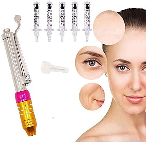 NHM Hyaluron Pen Acido Ialuronico Penna Filler Labbra Atomizzatore Kit con 0,3 Ml Syringe Fiala Macchina di Bellezza per Anti Rughe Lifting delle Labbra Ringiovanimento della Pelle