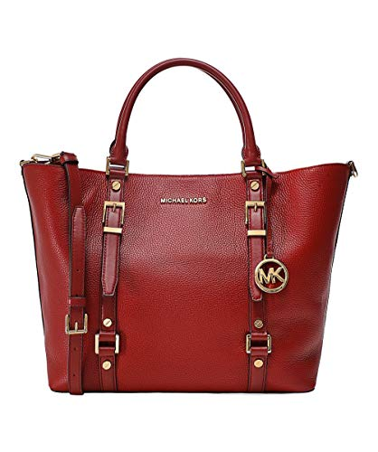 MICHAEL by Michael Kors Bedford Legacy Brandy Large Leather Tote Bag one size Red