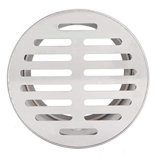 Nivvity Bodenablauf Dusche, Bodenablauf, Edelstahlbalkon Anti-Blockierender Bodenablauf für den Außenbereich (110 Flache Mündungen) für Abflussrohre Auspuffrohre Dachbalkon