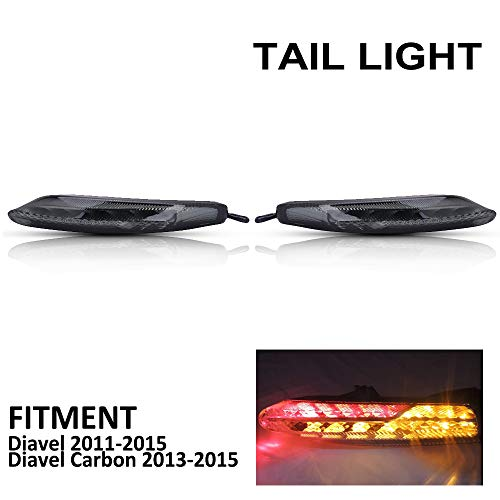 Motorrad-Rücklicht, integrierte Rücklicht, Rauchlinse, für Diavel Carbon 2013-2015, 13, 14, 15, Rennrad, 2 Stück