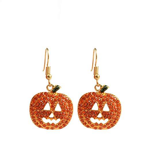 YOLANDE Zucca Ohrringe Strass Halloween Sorridente Schmuck Kürbis Anhänger Stud Cava Ohrring für Mädchen Frauen