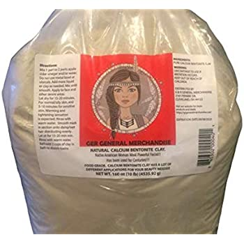 WORLD'S MOST POWERFUL REAL Calcium Bentonite Clay 10 lbs. FOR EVERYBODY. Food grade.Deep Pore Cleansing Facial & Body mask.