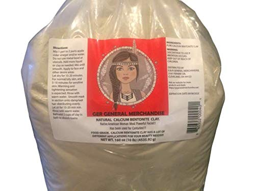 World's Most Powerful Real Calcium Bentonite Clay 10 lbs. Organic Pharmaceutical, Better Than Food Grade. All Natural and Pure. Source in USA. Perfect for Mask,Bath or Wrap.