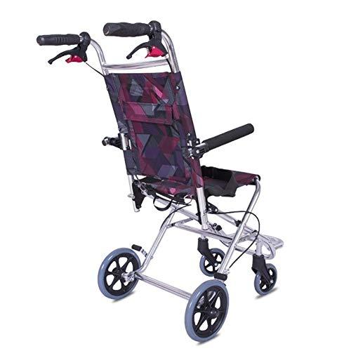 Fhxr Kinderrollators Met Stoel Lichtgewicht Draagbare Rolstoel, Vliegtuig Rolstoel Aluminium Kinderen Rolstoel