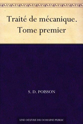 Couverture du livre Traité de mécanique. Tome premier
