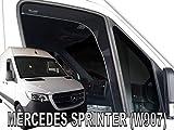 J&J Automotive - Deflectores de viento para Mercedes Sprinter W907 2 puertas 2018-pres (2 unidades)