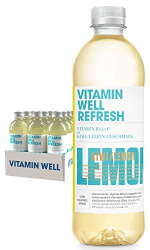 VITAMIN WELL Refresh 12 x 500ml Vitamin Well ist ein funktionelles und kalorienarmes Getränk, angereichert mit funktionalen Komponenten wie Vitaminen und Mineralstoffen.