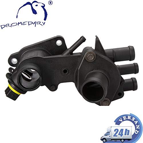 Dromedary 032121111N Thermostat Thermostatgehäuse Kühlmittel Gehäuse Temperaturgeber mit Sensor Golf III Lupo Polo Vento 1H2