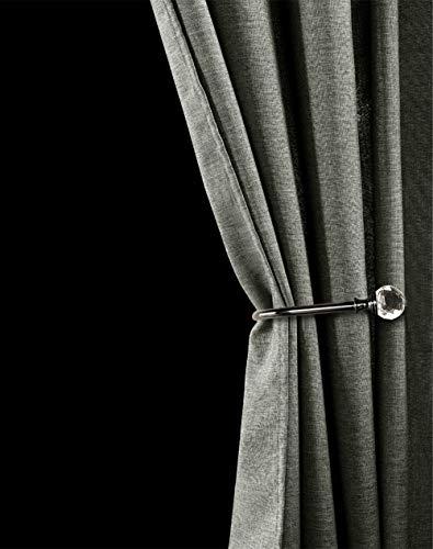 QULiang Nachgemachter Leinen-Duschvorhang, Trennvorhang-Polyester-Duschvorhang geben lochenden Wasserdichten Mehltau-Verdickungsvorhang frei