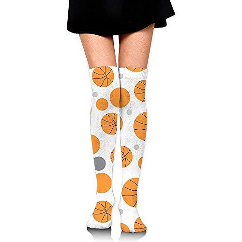 Be-ryl Über dem Knie Lange Socken Rollmuster Basketball Frauen Mädchen Thight High Boot Socken 60 CM