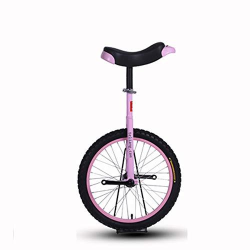 24 Zoll Einrad, Schwarze Leichtmetallfelge, schwarzer Reifen Mit bequemem Release-Sattelsitz, Einrad Acrobatic Balance Auto Fahrrad Einrad Kind Erwachsener,Rosa