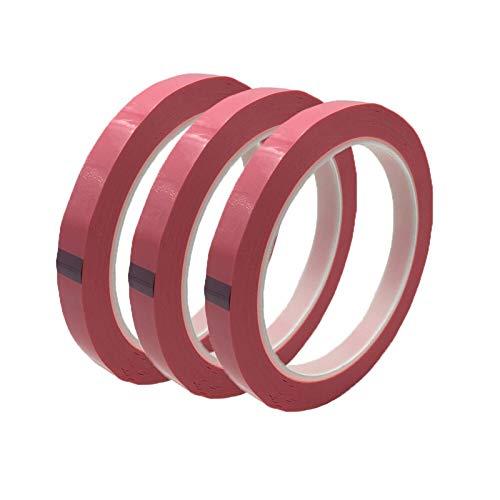 Top Qualität 3Roll 10mm Hochtemperatur PET MYLAR TAPE Klebstoff Isolation Polyester Filmband für Transformator und elektronische Komponenten verwenden Wasserdicht und hochtemperaturbeständig