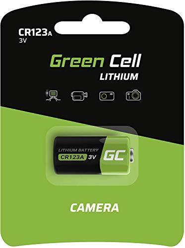 Green Cell Lithium Batterien CR123A (CR17345, 5018LC) 3 Volt für Digitalkameras, Camcorder, Alarmanlagen, Sicherheitstechnik, Rauchmelder, Taschenlampen, etc.