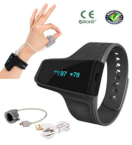 Schlafmonitor–Anti-Schnarchen Schlafhilfe Armbanduhr–Überwachung der Herzfrequenz–SpO2-Pulsoximeter-Alarm–kabellos Bluetooth für Schlafapnoe mit LED-Bildschirm