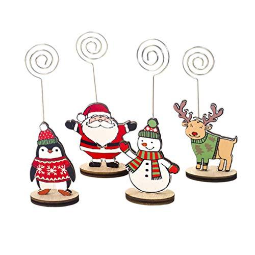 GARNECK Portacarte Decorativo da 8 Pezzi segnaposto con Motivo Natalizio Modello da Tavolo in Filo Metallico con Base per Banchetto di Nozze da Ristorante (Stile Casuale)