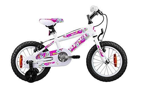 Atala Bicicletta da Bambina Modello 2020, Muffin 14', Colore Bianco - Rosa