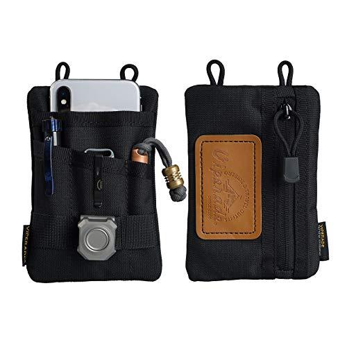VIPERADE VE1 Pocket Organizer, Tool für Männer, Nylon Aufbewahrungs-EDC-Ausrüstung, bestes Geschenk, um organisiert zu bleiben, Taschenlampe/Taschenmesser, taktischer Stift, Notizbuch (Schwarz)