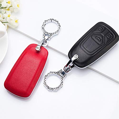CarWorld para Audi A1 A3 A4 A5 A6 A7 A8 A4L A6L Quattro Q3 Q5 Q7 B9 C5 C6 R8 TT TTS 8S 754C / 754G, Funda Protectora de plástico para Llave de Coche de prepucio