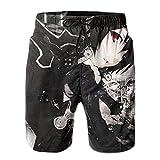 XCNGG Pantalones Cortos de Playa Anime Sword Art Online Kirito Men's Swim Trunks Quick Dry Beach Shorts Summer Swimming Pants