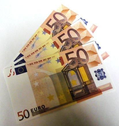 Geschenkartikel 10 Stück 'Euro-Ersatz-Schein 50' 125{92163637bfaf38cb1edbe80d1000fafb004c282d86022a0132d9d005ddf23d12}, einseitig, Spielgeld - nach Wahl ( 10x 50 Euro)