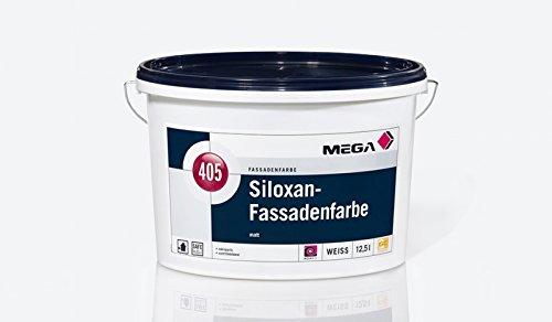 MEGA, Siloxan-Fassadenfarbe, hochwertige schlagregendichte, wasserdampfdiffusionsoffene Siliconharz-Fassadenfarbe, 12,5 l
