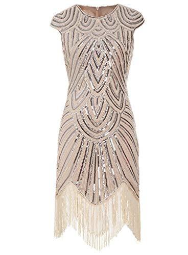 Maskworld Elegantes 20er Jahre Charleston Damen Kleid - Daisy - Größe: M - Flapper Abendkleid Kostüm Verkleidung
