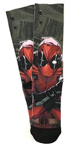 Bioworld Deadpool Cash Money Sublimated Herren Crew Socken, 1 Paar