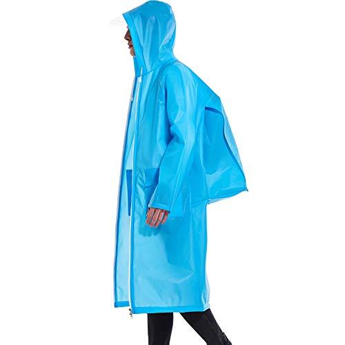 Goldenla Rugzak voor volwassenen, met ritssluiting, dubbele kop, voor outdooractiviteiten, wandelen, mannelijk, waterdicht, grote poncho