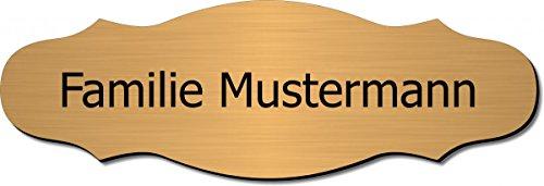 Türschild, Klingelschild, Namensschild, Briefkastenschild, Pokalschild, Typ:Messing 401-08 - 120x40 mm