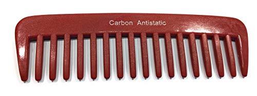Hercules Sägemann Peigne en carbone rouge 13 cm 18 dents Peigne à épiler Peigne à épiler Peigne à épiler AfrokPeigne grossier denture (C232R) antistatique