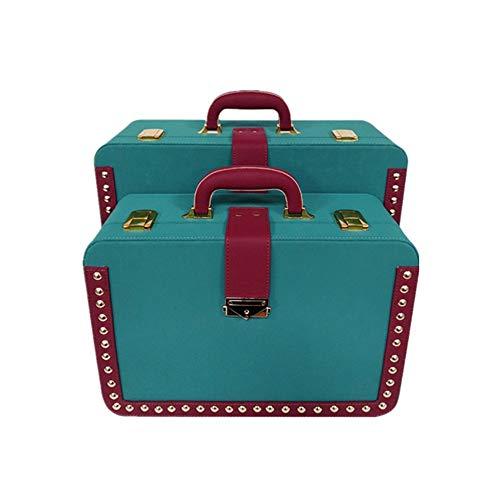 HO-TBO Decoratieve kofferset 2 schatkist koffer van hout piraten opbergbox trouwkaart houder home office decoratieve accessoires toon crafts