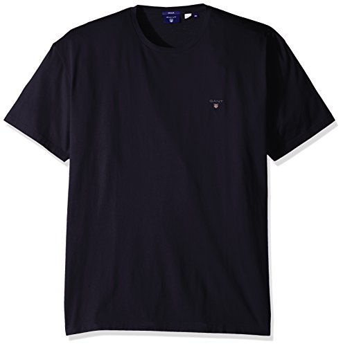 GANT Herren SOLID T-Shirt, Blau (Evening Blue 433), Medium (Herstellergröße: M)