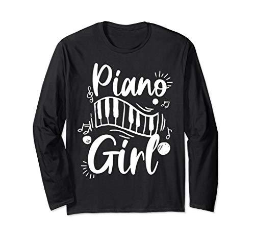 Playful Piano Girl Design, Lady Pianist Piano Player Gifts Langarmshirt