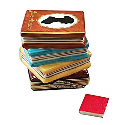 Jane Austen pila de libros – Caja de Limoges auténtico figura de porcelana de Francia: Amazon.es: Hogar