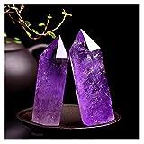 YSJJJBR Piedra de decoración de pecera Una Columna de Amatista de una Piedra Natural de Piedra Natural, decoración del hogar de Cristal de Rosa (Color : Purple, Size : 60MM-70MM)