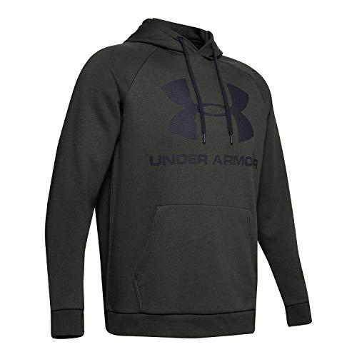 Under Armour Rival Fleece Sportstyle Logo, Felpa da Uomo con Cappuccio, Verde Barocco, XS