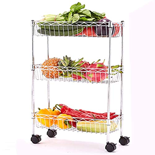 BCGT Kitchen Racks, Floor Multi-layer Vegetable Racks, Storage Racks (Size : 50cm×30cm×80cm)