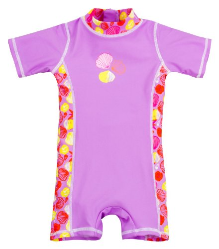 Landora Baby-Badebekleidung Einteiler mit UV-Schutz 50+ und Oeko-Tex 100 Zertifizierung in violett; Größe 98/104