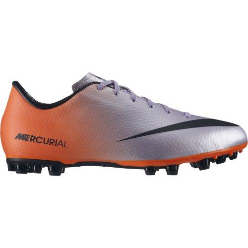 Nike Jr Mercurial Victory IV AG - Botas para niño, Color Plateado/Negro/Naranja, Talla 36.5